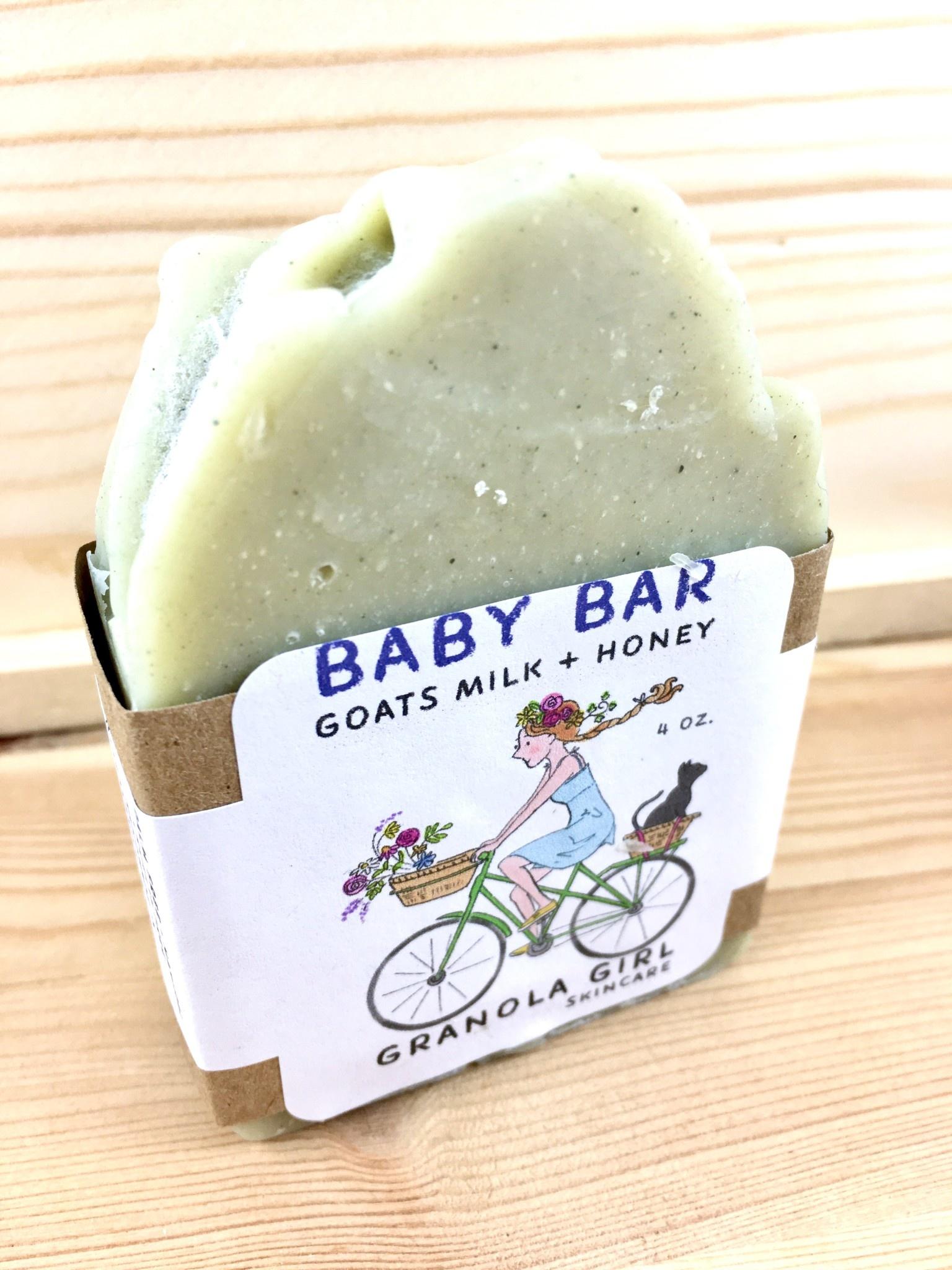 Granola Girl Skincare /Teehaus Bath + Body Baby Bar - Goat's Milk + Honey Soap