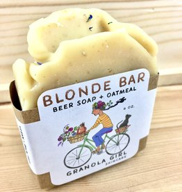 Granola Girl Skincare /Teehaus Bath + Body Blonde Bar - Beer + Oatmeal Soap