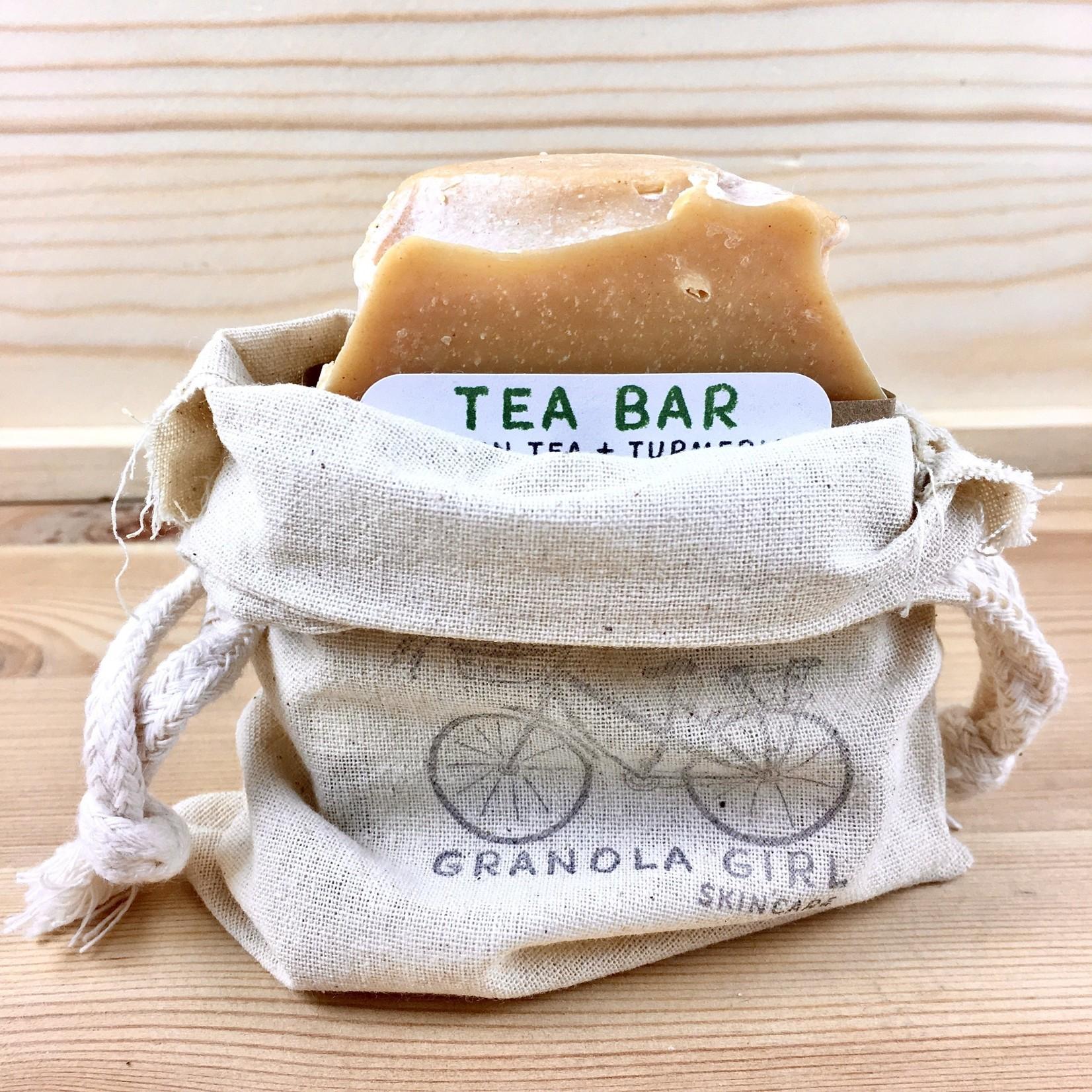 Granola Girl Skincare /Teehaus Bath + Body (QO) Soap Saver Canvas Drawstring Pouch