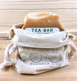 Granola Girl Skincare /Teehaus Bath + Body Soap Saver Canvas Drawstring Pouch