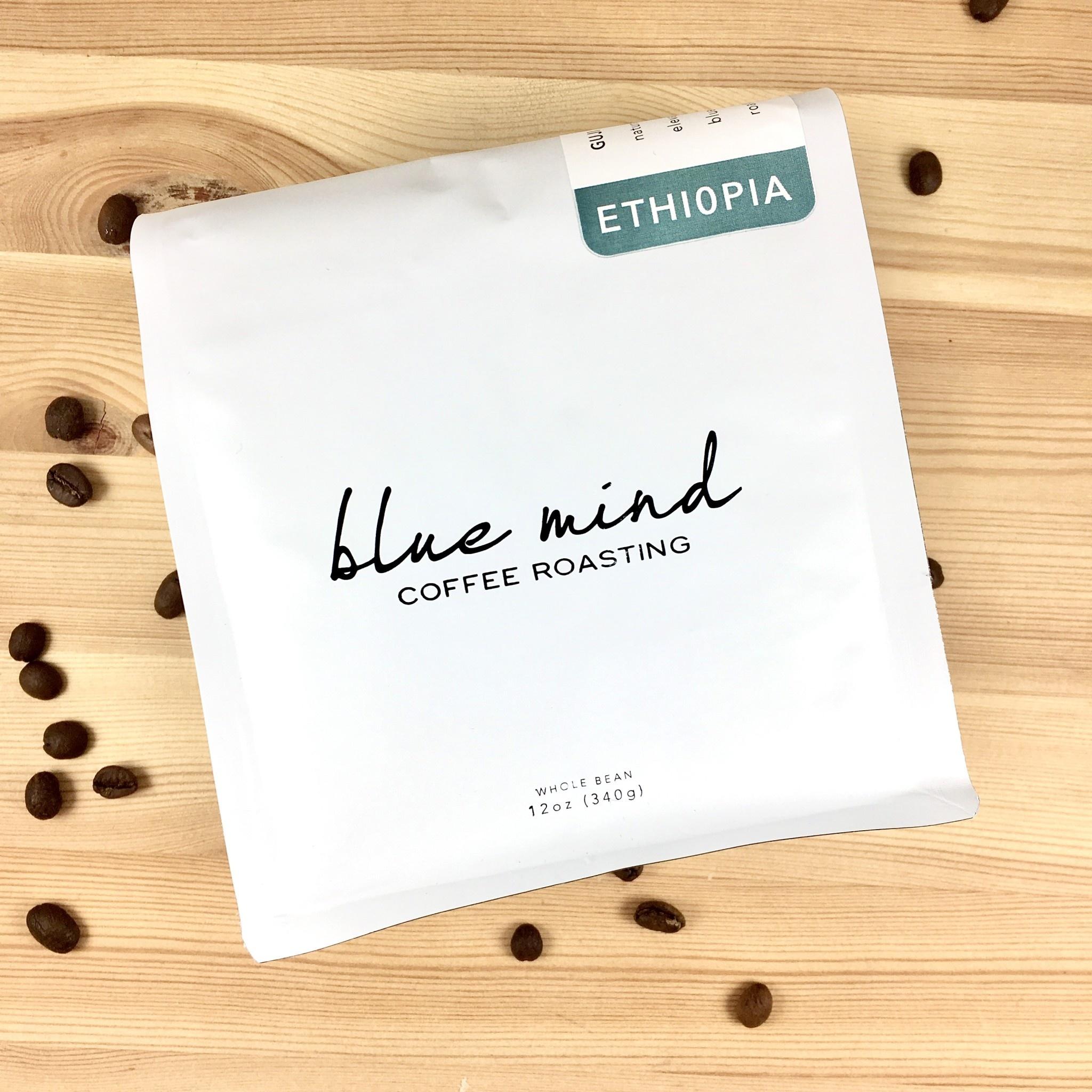 Blue Mind Roasting Ethiopia - Guji Hambela Whole Bean Coffee 12oz. Bag