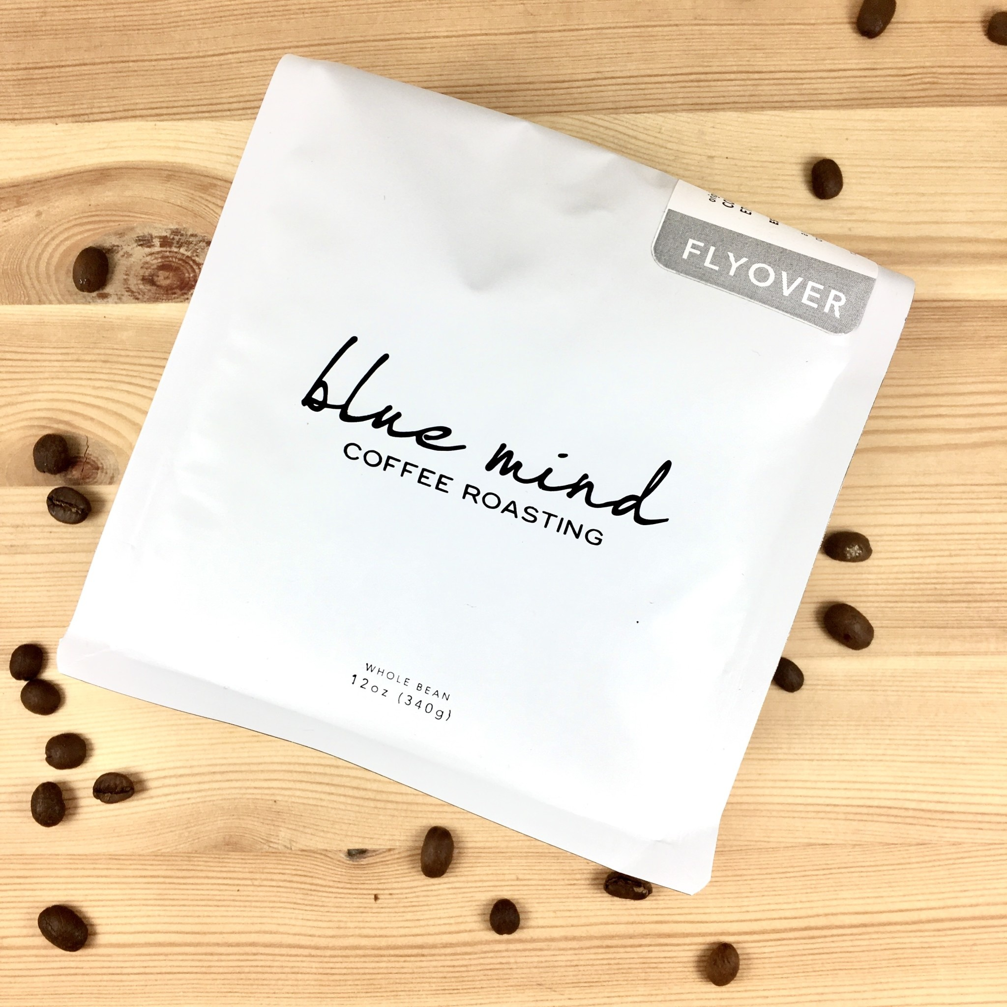 Blue Mind Roasting Flyover - Honduras Ethiopia Yirgacheffe Whole Bean Coffee Bag 12oz. Bag