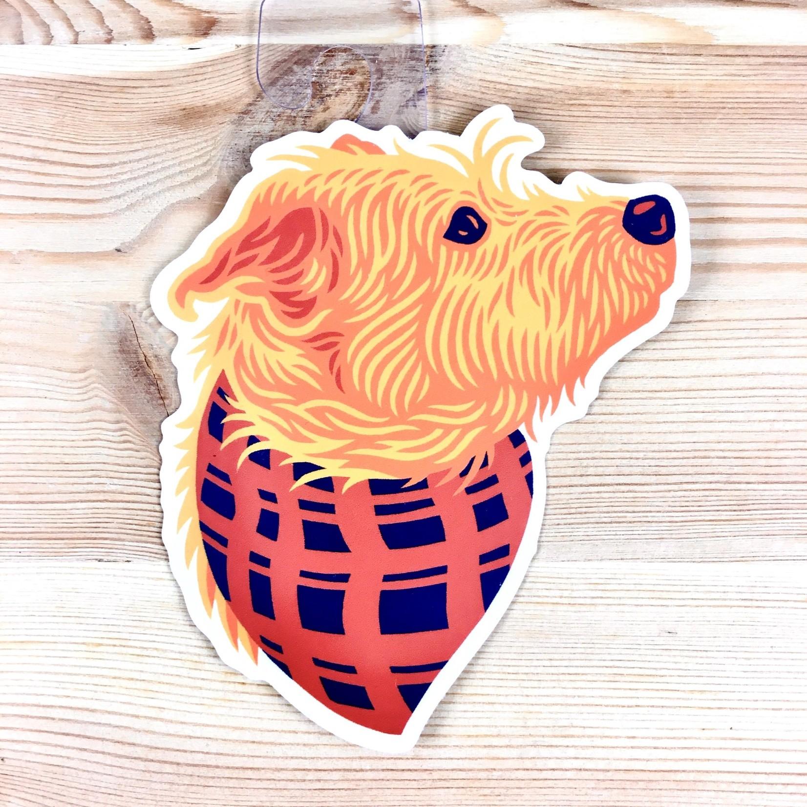 John Vogl / The Bungaloo Loki Bandana Dog Sticker
