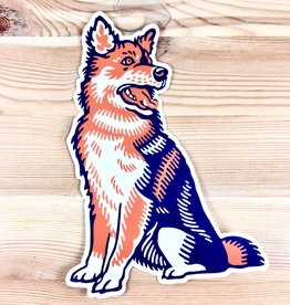 John Vogl / The Bungaloo Mutt-Husky Dog Sticker