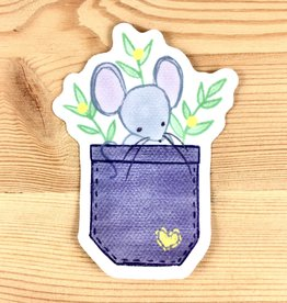 "Lacelit ""Little Pocket Mouse"" Sticker"