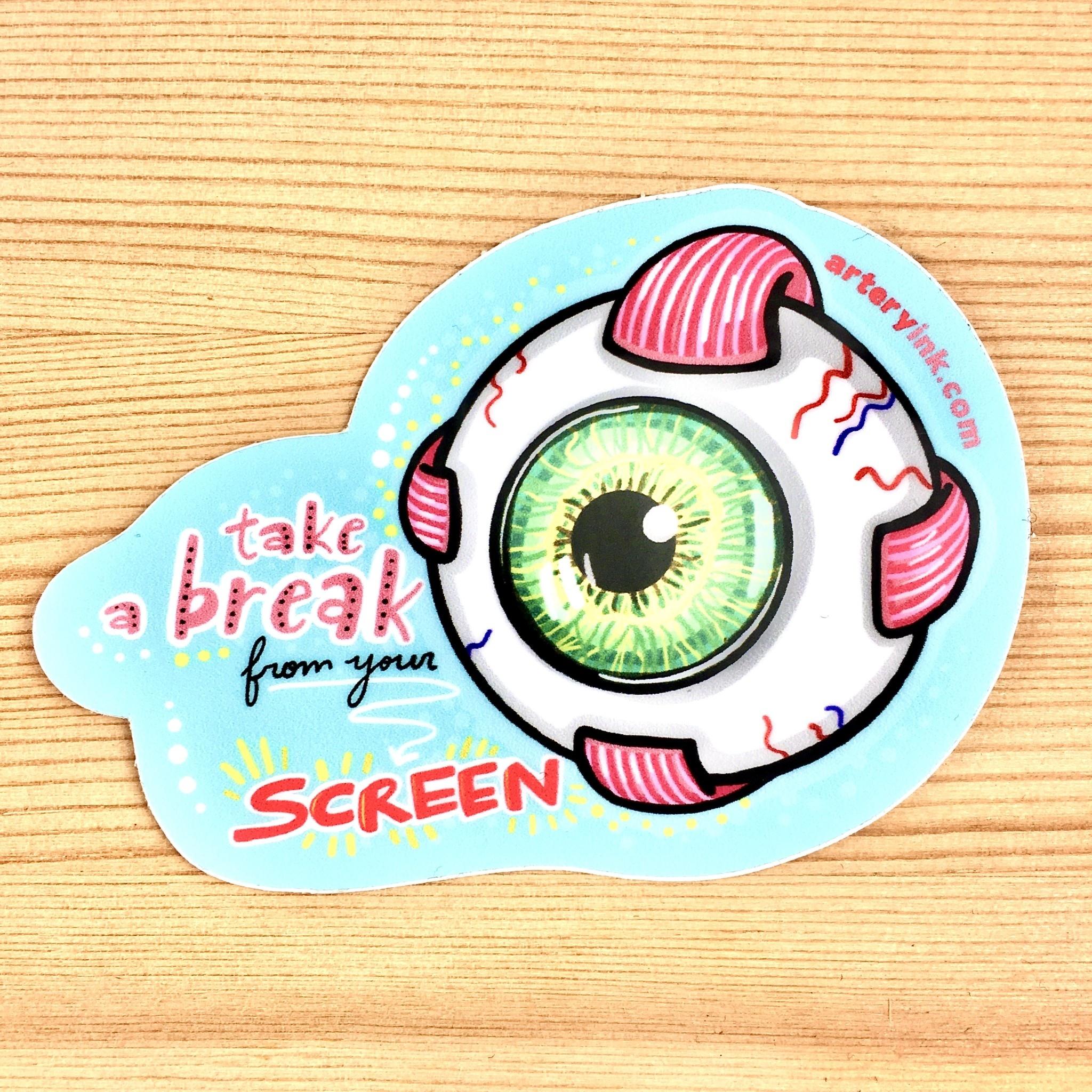Artery Ink Screen Break Eye Reminder Sticker