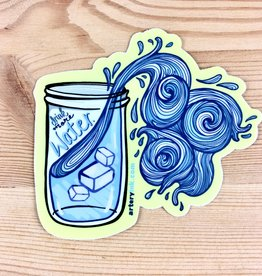 Artery Ink Drink More Water Reminder Sticker