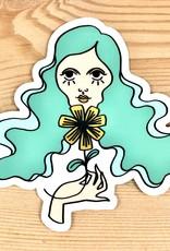 Bunny Miele Illustration Groovy Girl Sticker
