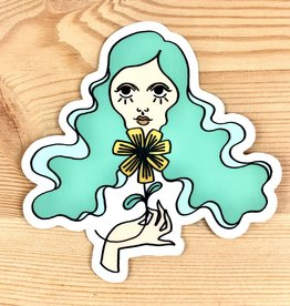 Bunny Miele Illustration Groovy Girl Sticker