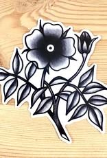 Bunny Miele Illustration Flora Vinyl Sticker