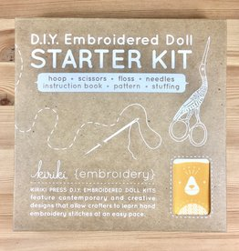 Kiriki Press D.I.Y. Embroidered Doll Starter Kit - Bear, Level 2