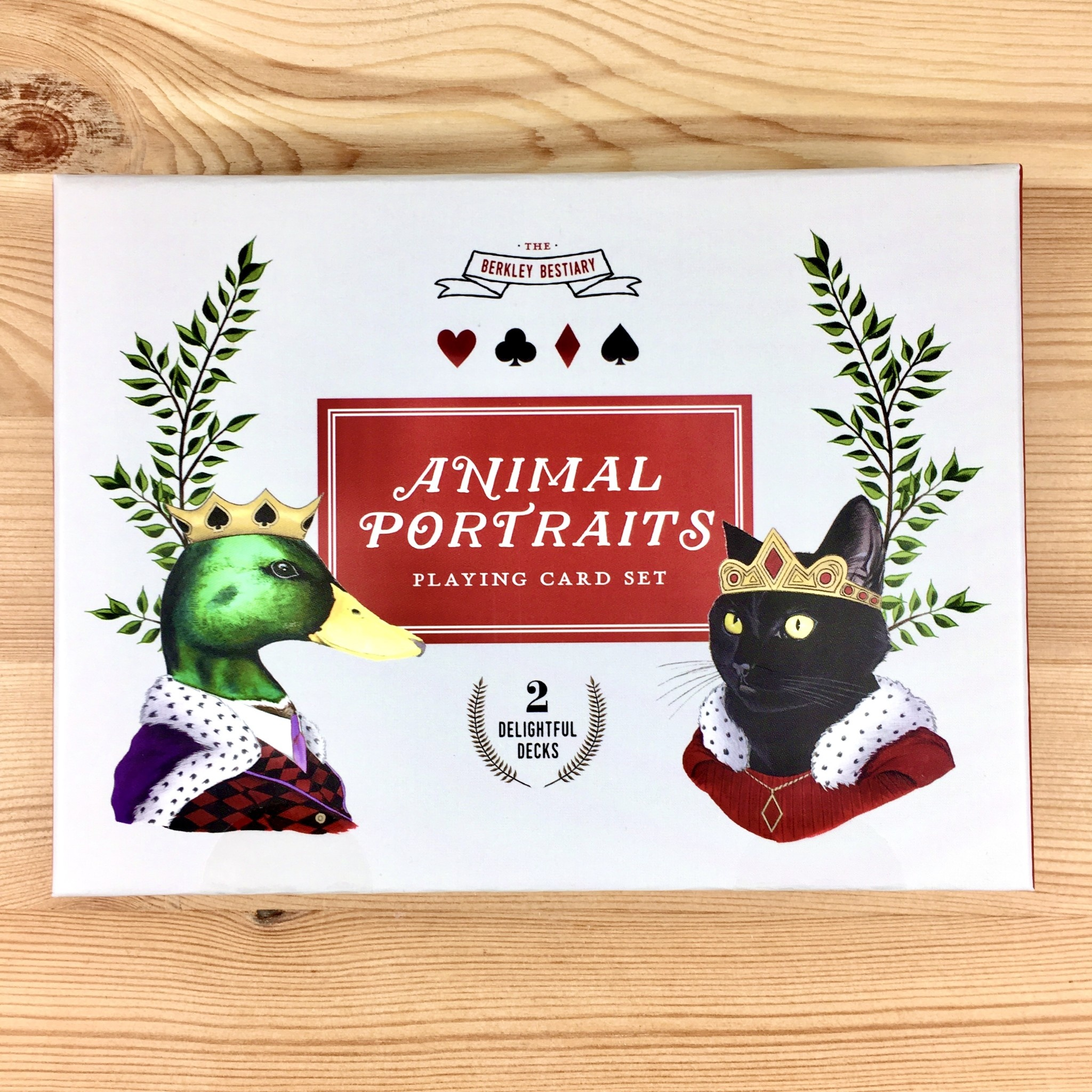 Berkley Illustration / Ryan Berkley Animal Portraits Playing Card Set