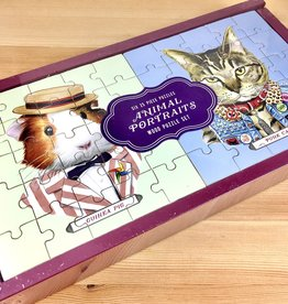 Berkley Illustration / Ryan Berkley Animal Portraits Wood Puzzle Set