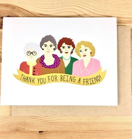 Arthur's Plaid Pants Golden Girls Thank You Greeting Card