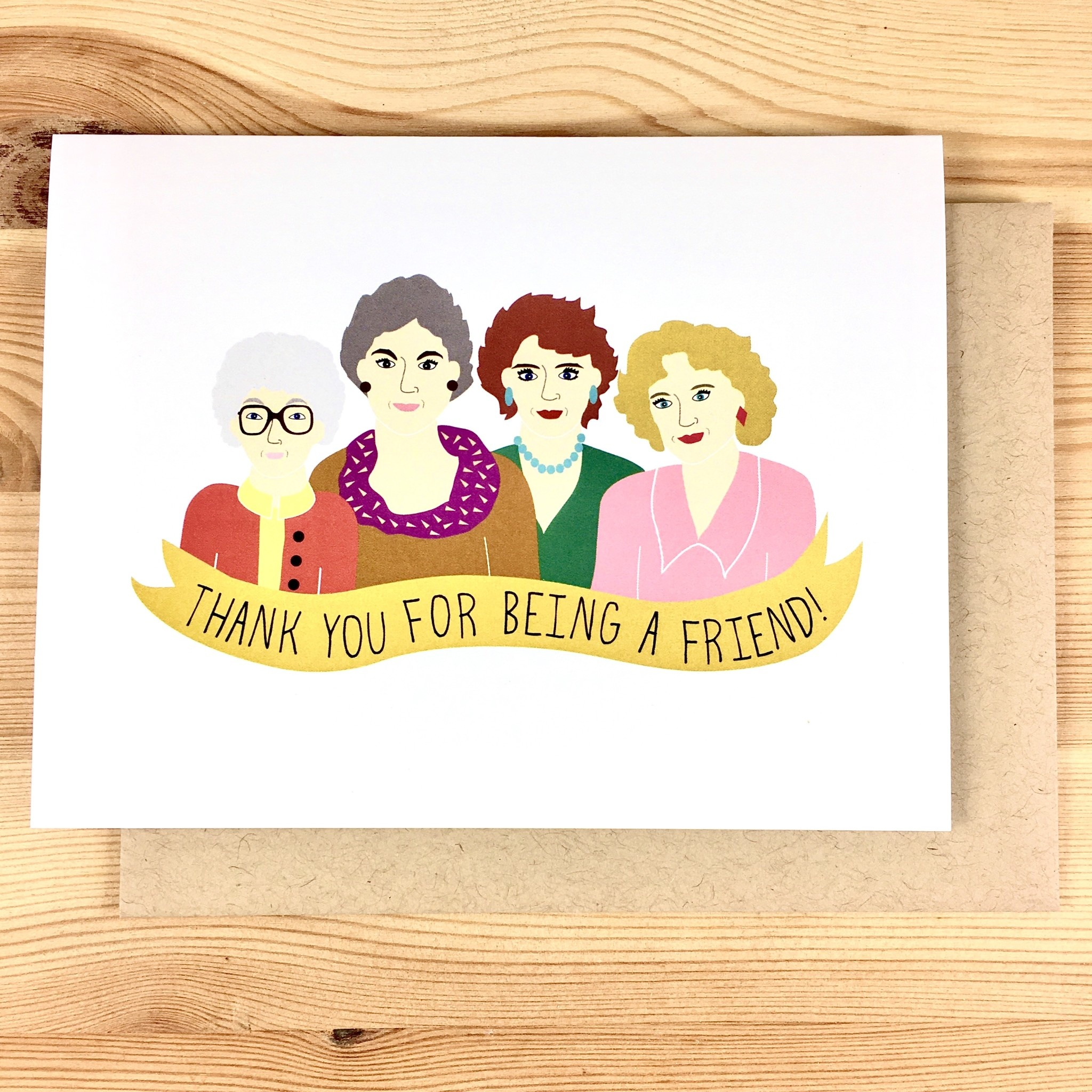 Arthur's Plaid Pants Golden Girls Thank You Greeting Card