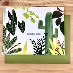 An Open Sketchbook Plant Collection Thank You Greeting Card