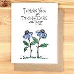 Lacelit Taking Care With Me Purple Flowers Greeting Card
