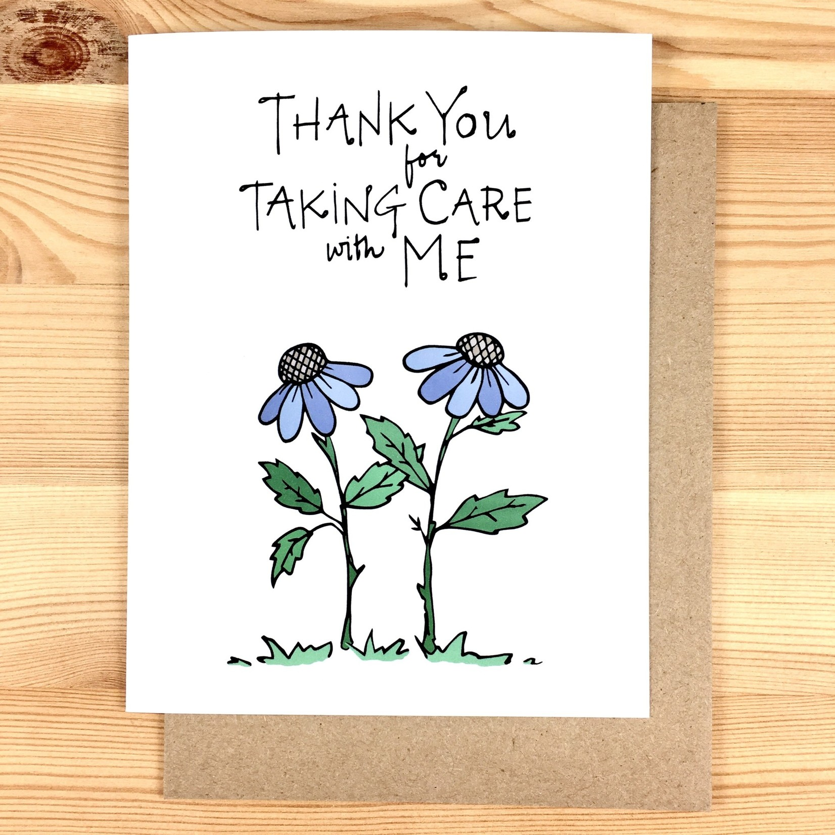 Lacelit (APO) Taking Care With Me Purple Flowers Greeting Card