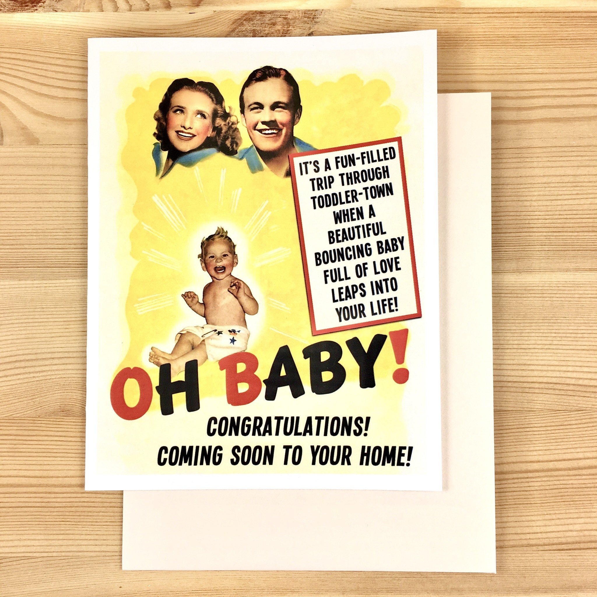 Alternate Histories Oh Baby! Greeting Card