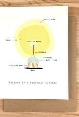 Box Berry Birthday Cupcake Anatomy Greeting Card