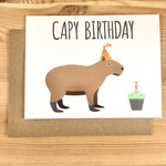 Mr. Sogs Creatures Capy Birthday Greeting Card