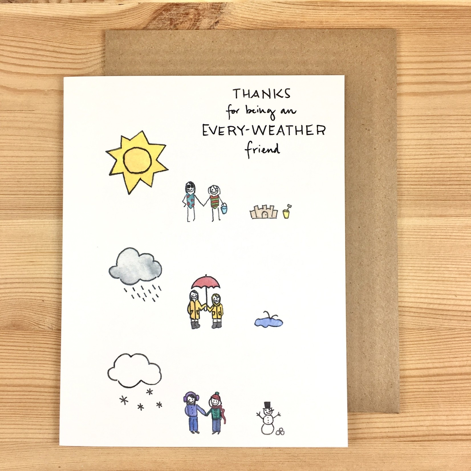 Lacelit (APO) Every-Weather Friends Greeting Card
