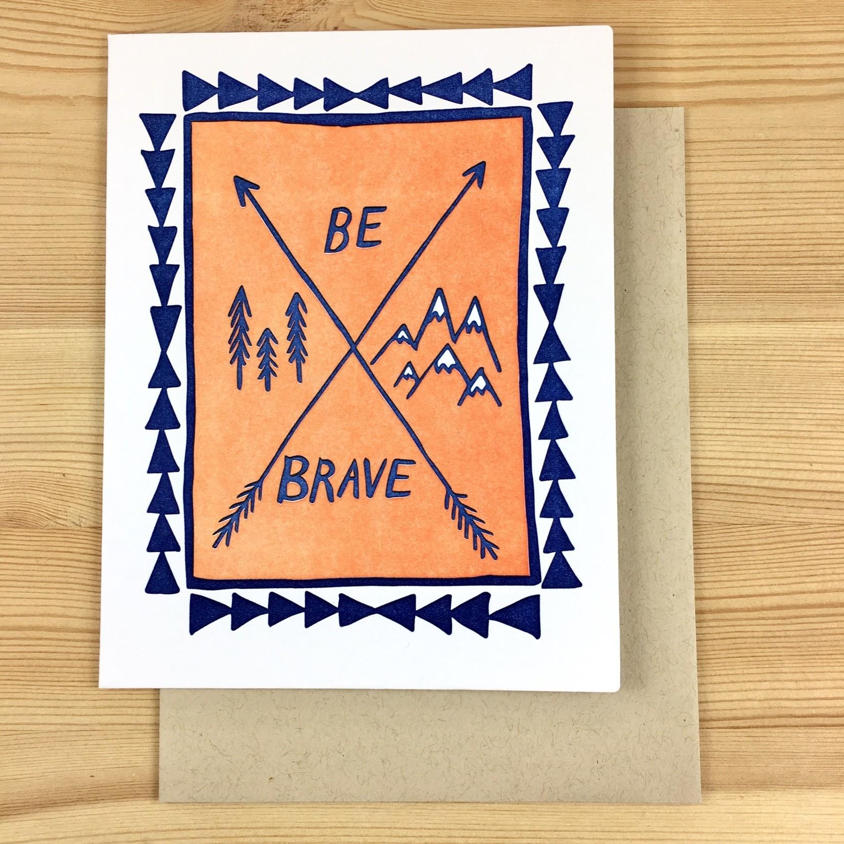 Big Wheel Press Be Brave Arrows Greeting Card