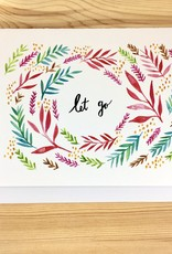 A Quartzy Life Let Go Watercolor Leaves Greeting Card