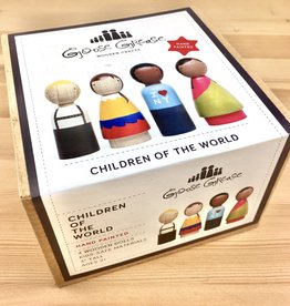 Goose Grease Children of the World Wooden Peg Dolls