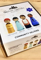 Goose Grease The Community Helpers Wooden Peg Dolls