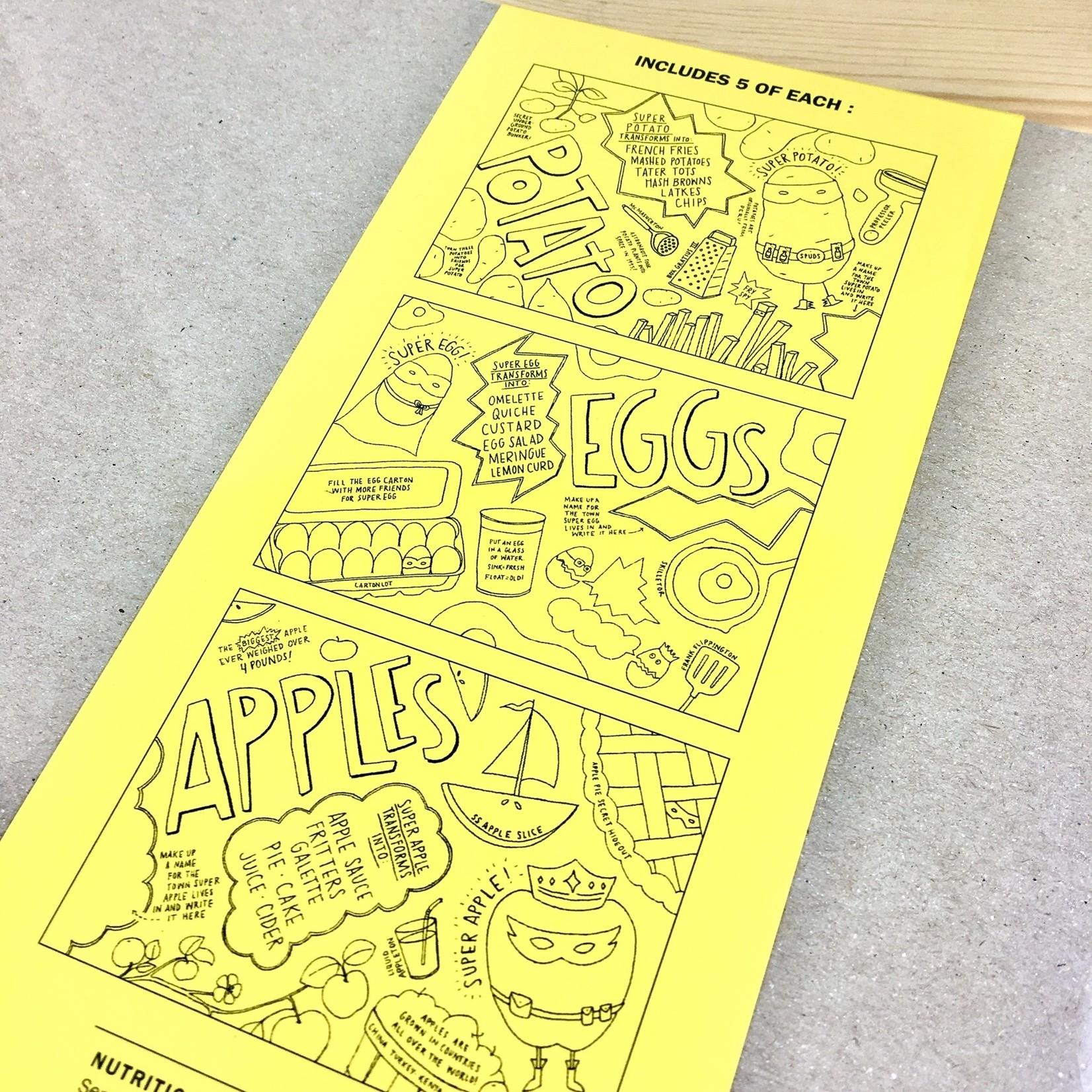 Nourishing Notes 15 Food Superhero Coloring Placemats