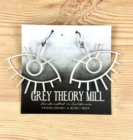 Grey Theory Mill Silver - Eye Dangle Earrings