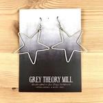 Grey Theory Mill Silver Star Dangle Earrings