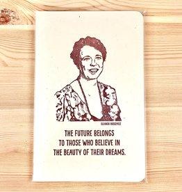 Blackbird Letterpress Eleanor Roosevelt Medium Notebook