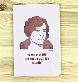 Blackbird Letterpress Alice Paul Medium Notebook