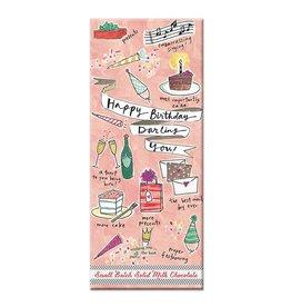 Curly Girl Design Darling You Birthday Milk Chocolate Bar