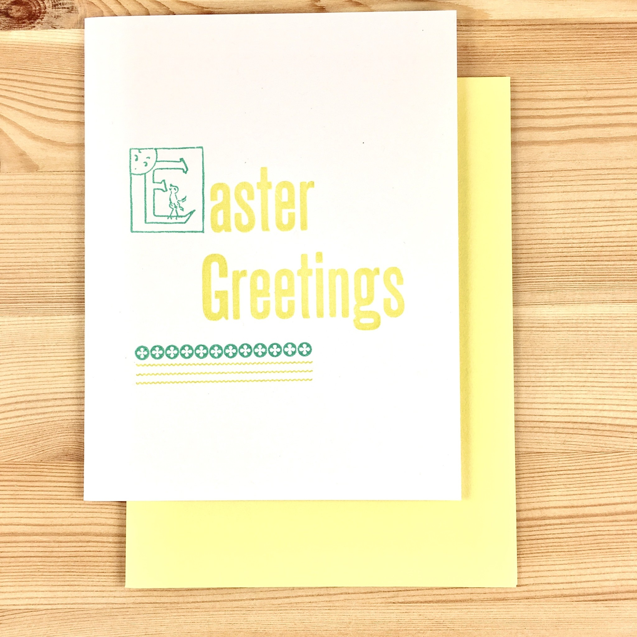 Iron Leaf Press Easter Greetings Greeting Card