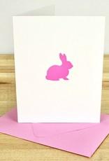Green Bird Press Pink Bunny Letterpress Greeting Card