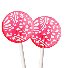Popette Of Pendulum Strawberry Creme Lollipop