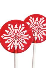 Popette Of Pendulum Raspberry (Snowflake) Lollipop