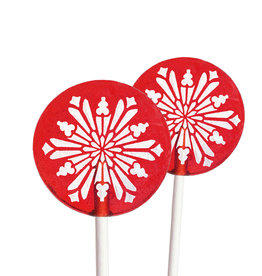Popette Of Pendulum Raspberry (Snowflake) Lollipop