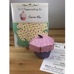Paper Acorn Cupcake Box DIY Papercrafting Kit
