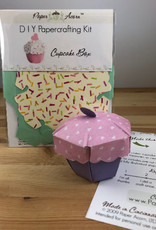 Paper Acorn Cupcake Box DIY Papercrafting Kit