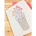 Cracked Designs Sweet Birthday Ice Cream Cone Greeting Card