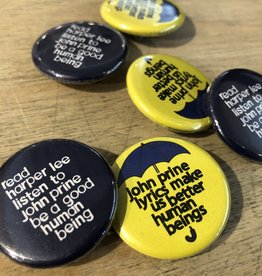 BadKneesTs John Prine Lyrics Pinback Button