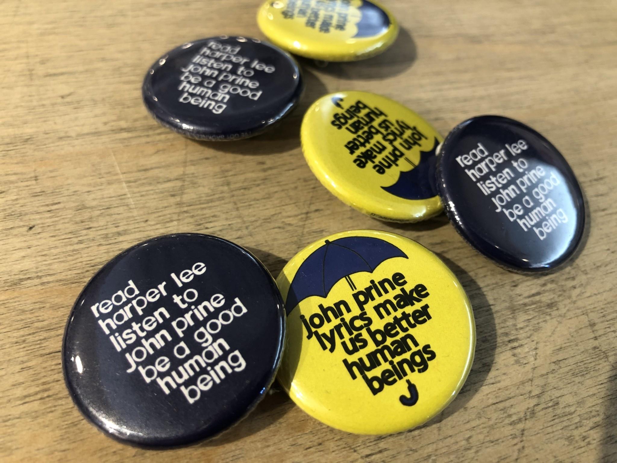BadKneesTs John Prine Lyrics Pinback Button