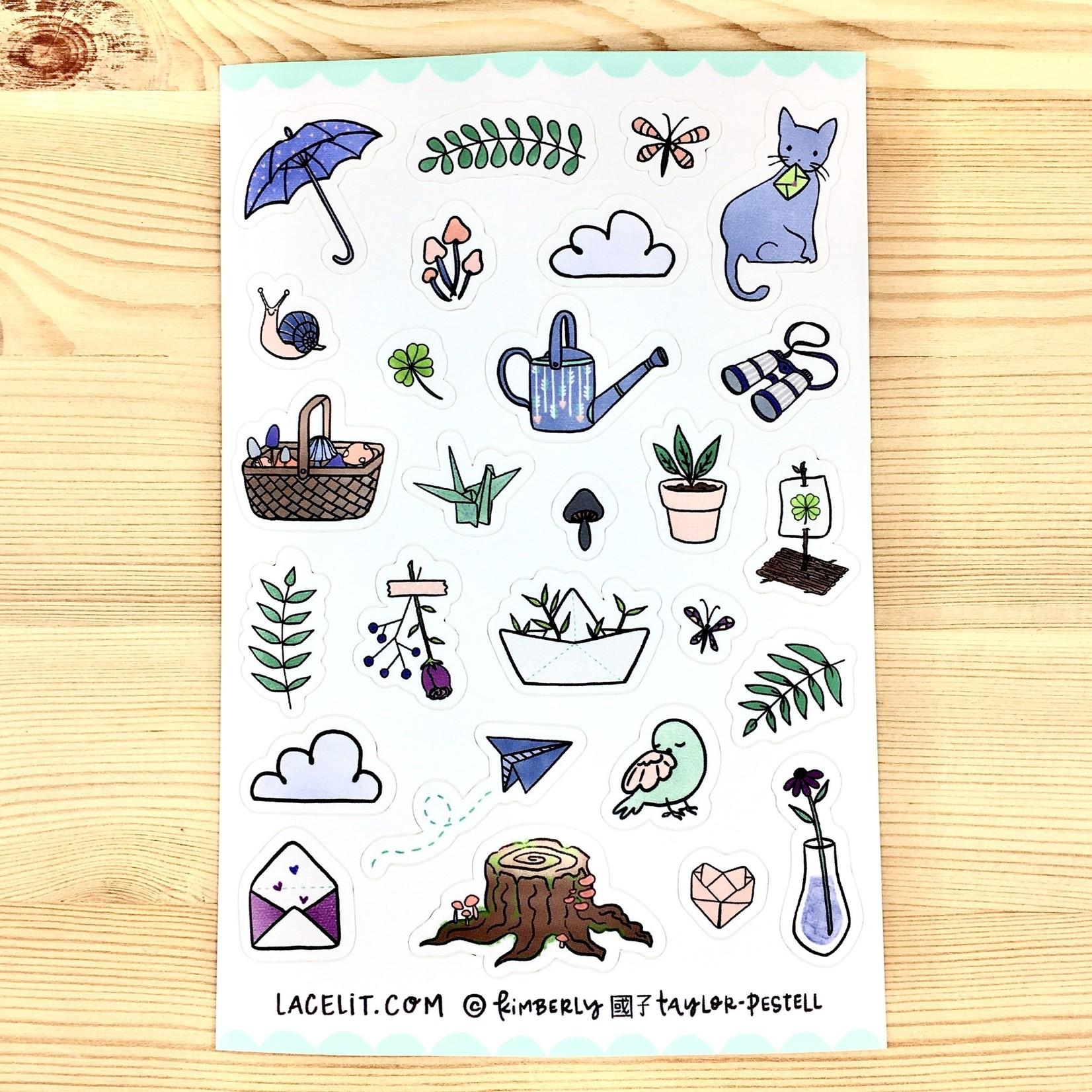 Lacelit Little Day Planner Sticker Sheet