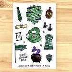 Lacelit Slytherhouse Vinyl Sticker Sheet