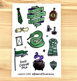 Lacelit Slytherhouse Vinyl Sticker Sheet