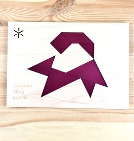 Bright Beam Goods (Make ATX) Squirrel Tangram Tiling Puzzle